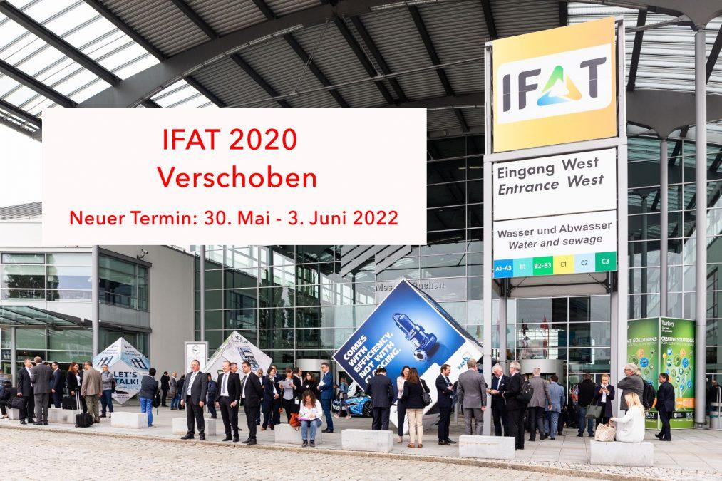 IFAT verschoben auf 30. Mai – 3. Juni 2022