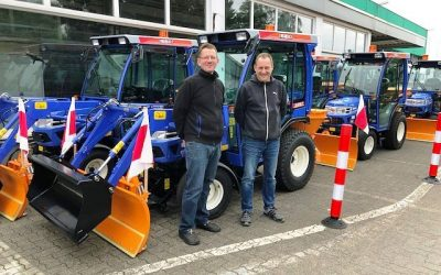 Fünf Iseki-Traktoren für die Stadt Bielefeld