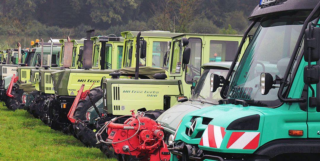 Großes MB-trac und Unimog Treffen mit Feldvorführungen in Nordhorn