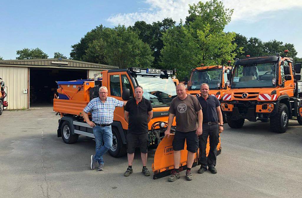 Neuer Multicar M 31 mit SCHMIDT Syntos für die Gemeinde Leopoldshöhe