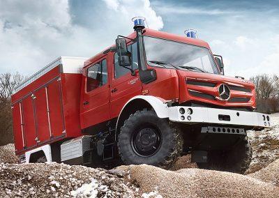 RKF-Bleses - Der hochgeländegängige Unimog U 5023 mit Doppelkabine, Feuerwehrausstattung