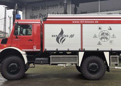 Unimog U 5023: Vorführfahrzeug Feuerwehrausstattung, Seitenansicht