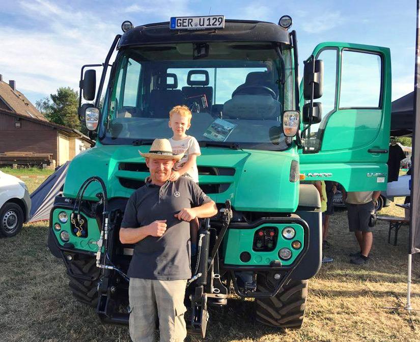 Team Förster beim Generationstreffen des Unimog-Veteranen-Club in Schleiden